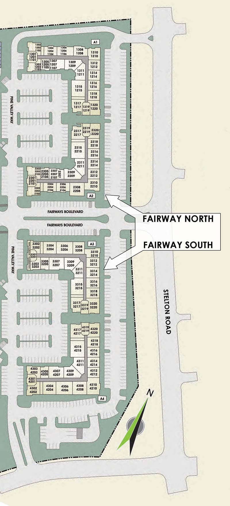 The Villas At Fairway Online Leasing Map
